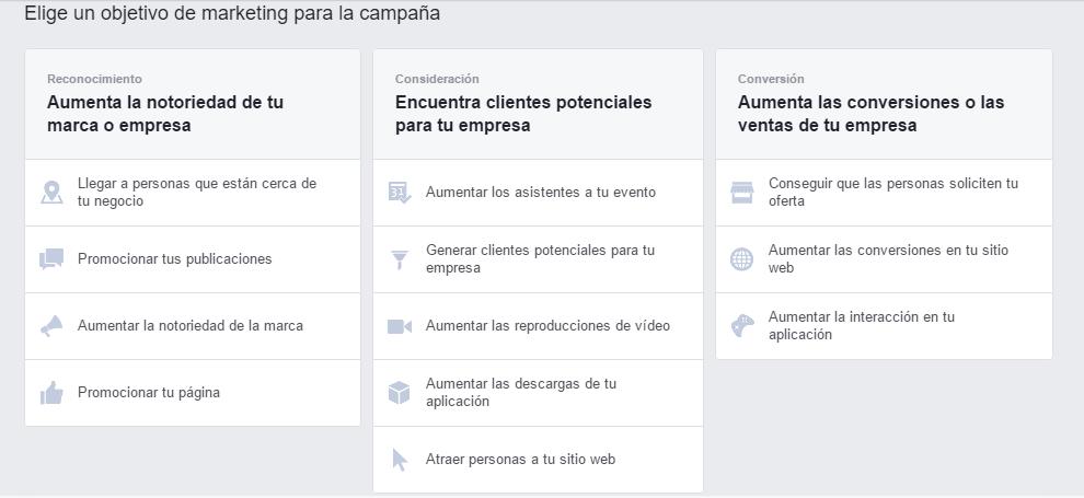 acciones en facebook
